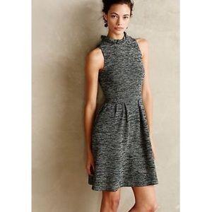 Anthro Ganni sweater sleeveless dress ruffle neck